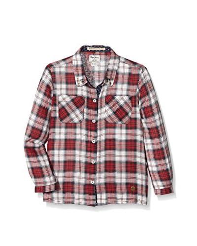 Pepe Jeans London Camisa Niña Sigrid Rojo / Blanco