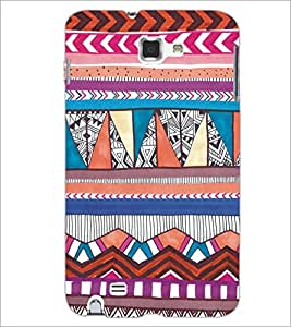 PrintDhaba Tribal Pattern D-5437 Back Case Cover for SAMSUNG GALAXY NOTE 1 (Multi-Coloured)