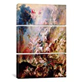 iCanvasART 1442 The Fall of The Damned 3-Piece Canvas Print by Peter Paul Rubens, 60 by 40-Inch, 0.75-Inch Deep