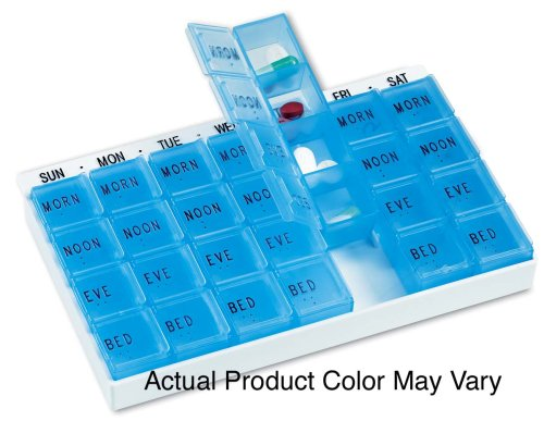 Medi-Chest - Pill Organizer Dispenser Planner by Apex Healthcare Products