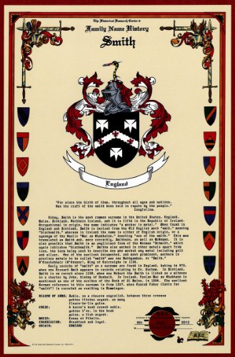 Smith Coat Of Arms/Crest And Family Name History, Meaning & Origin Plus Genealogy/Family Tree Research Aid To Help Find Clues To Ancestry, Roots, Namesakes And Ancestors Plus Many Other Surnames At The Historical Research Center Store front-212857