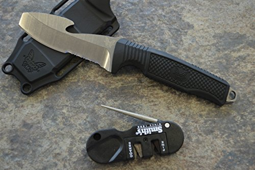 Benchmade 112S-BLK Opposing Bevel Dive Knife with FREE Smith Sharpener