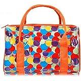 Moolecole Women Protable Toiletry Wash Bag Travel Hand Waterproof PVC Zipper Make-up Bag
