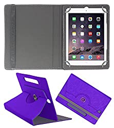 Acm Designer Rotating Case For Apple Ipad Air 1 Stand Cover Purple