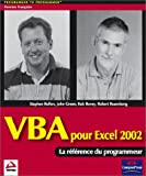 VBA pour Excel 2002 (French Edition) (2744090107) by Bullen, Stephen