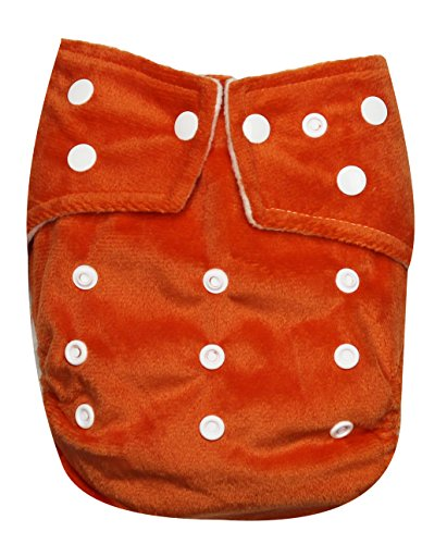 See Diapers One Size Minky Baby Cloth Diaper 2 Microfiber Inserts Orange