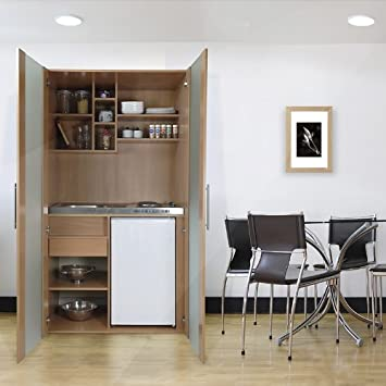 respekta SKW Kitchenette Reversible with Double Ceramic SKBMGC Door Beech Imitation