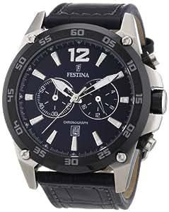 Festina Herren-Armbanduhr XL Chronograph Quarz Leder F16673/2