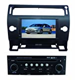 ChiLin Citroen C4 Black Intelligent Navigation System with High Touchscreen GPS DVD Player Built-in GPS,Bluetooth,TV,AM/FM with RDS, iPod,steering wheel control,rear view camera input