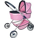 Partner Jouet A1101968 - Cochecito con ruedas para beb� de juguete, color rosa