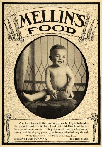 1913 Ad Mellins Food Company Baby Boy Infant Formula - Original Print Ad front-1045109