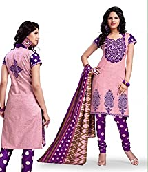 Kesar Printted Cotton (Unstitched) dress material (SA1016)