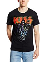 ICONIC COLLECTION - KISS Camiseta Manga Corta Kiss (Negro)