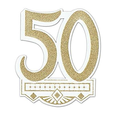 Glittered 50 Cutout