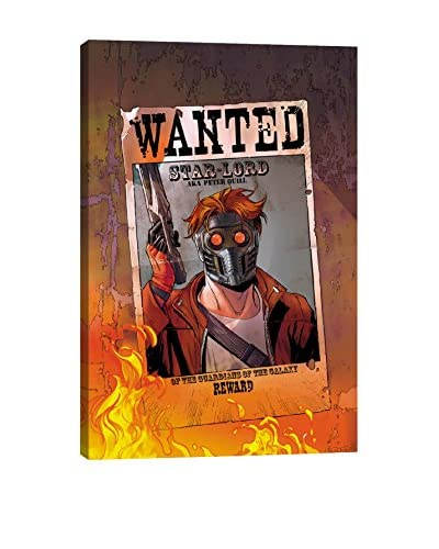 Wanted: Star-Lord Poster Gallery-Wrapped Canvas Print