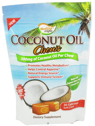 Healthy Delights Chews, Coconut Oil, 30 Count