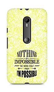 AMEZ Nothing is Impossible Back Cover For Motorola Moto Turbo