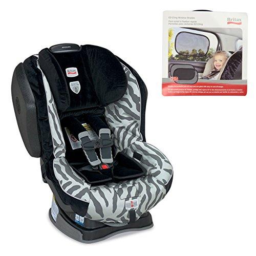 Britax Advocate G4 In Zebra W Ez-Cling Window Shade (2 Pack) front-497353