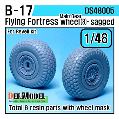 DEF Model 1:48 B-17F/G Flying Fortress Wheel set 3 (for Revell 1/48) #DS48005