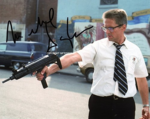 LIMITED EDITION MICHAEL DOUGLAS FALLING DOWN STAMPA SIGNED AUTOGRAPH PHOTO-CERT FIRMA FIRMATA SIGNIERT AUTOGRAM
