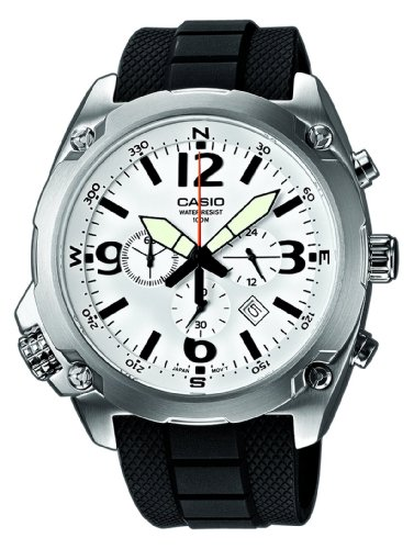 Casio Watch MTF-E002-7AVEF with Large Analogue Dial and Resin Strap