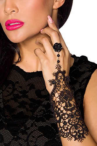 Angies Glamour Fashion -  Guanti  - Donna nero Taglia unica