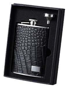 "Visol ""Alligator Patterned Leather Liquor Flask, 8-Ounce"