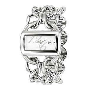 DKNY NY4367 - Reloj analógico de cuarzo para niña con correa de acero inoxidable, color plateado