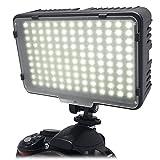 Mcoplus LED-130 大光量 800ルーメン3200-5500K(調節可能)ビデオライト ビデオ撮影 LEDライト 定常光ライト 130球のLEDを搭載 Canon、Nikon、Sigma Olympus、Pentaxなどのカメラ&ビデオカメラに対応 (LED-130)