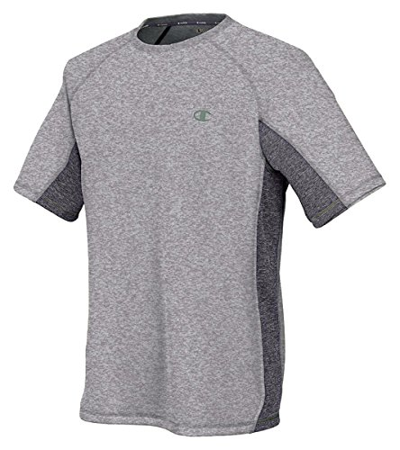 Champion Vapor Short Sleeve Men's T-Shirt_Oxford Grey/Granite Heather_XX-Large (Champion Xxl Sports Bra compare prices)