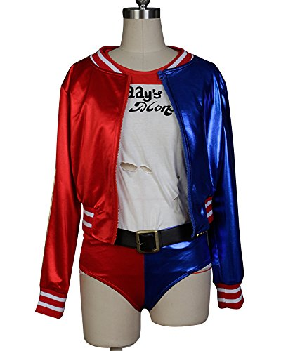 Ya-cos Suicide Squad Harley Quinn Cosplay Costume Skirt Dress Outfit Costume