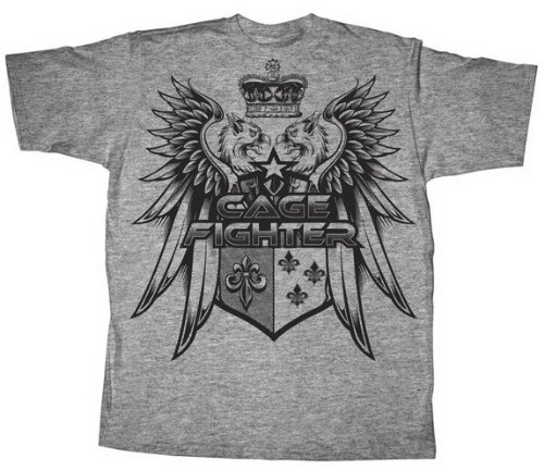 Cage Fighter Fighting Mixed Martial Arts MMA OXFORD EAGLE Adult Athletic Heather T-shirt Tee Shirt