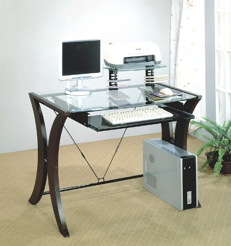 Buy Low Price Comfortable Home Office Wood Glass PC Computer Desk CPU Stand (B001DDKA7Q)