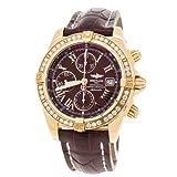 Breitling Windrider Chronomat Evolution K13356 Factory Diamond Burgundy Watch