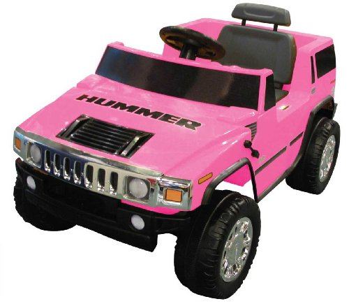 Amazon.com : National Products 6V Pink Hummer H2 Battery Operated Ride-on : Childrens Powered Ride Ons