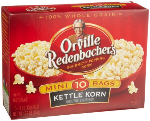 Orville Redenbacher Kettle Korn Popcorn Mini Bags, 10-Count (Pack of 3)