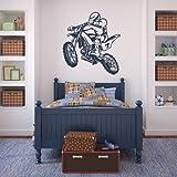 Wall Vinyl Sticker Decals Decor Art Bedroom Design Dirt Dirty Motocross Motorcycle Moto Gp Bike Motorbike (Z641)