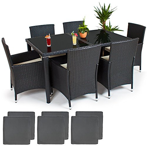 TecTake-POLY-Rattan-Aluminium-garden-furniture-garden-dining-set-61-seater-in-anthracite-2-sets-for-exchanging-the-upholstery-stainless-steel-screws