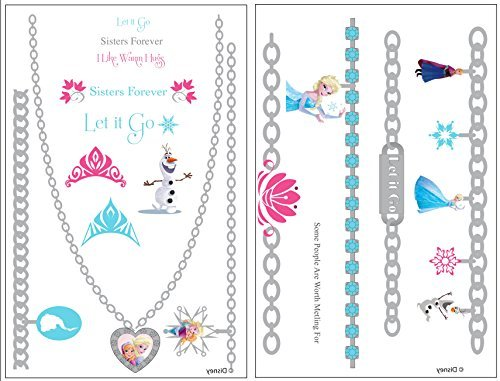 Frozen Temporary Metallic Tattoo - 1