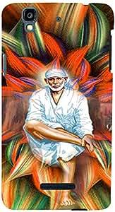 PrintVisa Religious Sai Baba Case Cover for YU Yureka