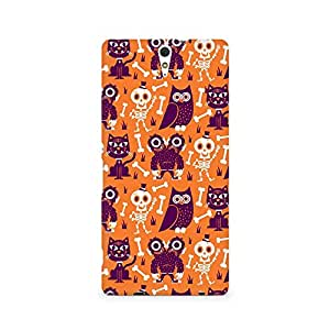 Motivatebox- Owls and Skull Premium Printed Case For Sony Xperia C5 -Matte Polycarbonate 3D Hard case Mobile Cell Phone Protective BACK CASE COVER. Hard Shockproof Scratch-