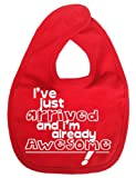 Image is Everything - I've just arrived and I'm already Awesome! - Baby, Toddler, Feeding Bib, Red