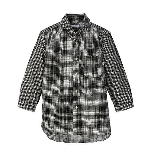 (タケオ キクチ)TAKEO KIKUCHI TOKYO 50ブロード手書風チェックシャツ ブラック(119) 02(M)