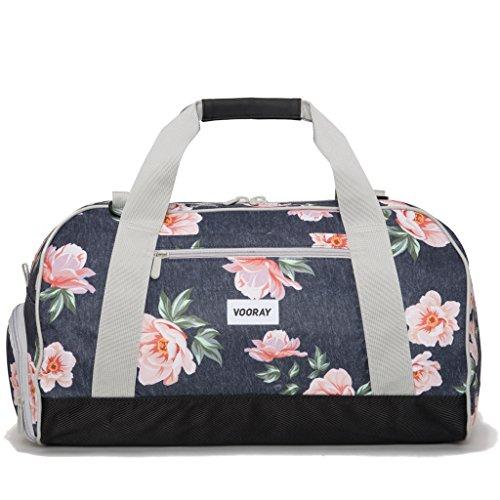 vooray-burner-sport-21-gym-bag-with-shoe-pocket-laundry-bag-rose-navy
