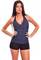 Womens beautiful Push Up Tankini with Hotpants two pieces swimsuit 1090AH-f3965