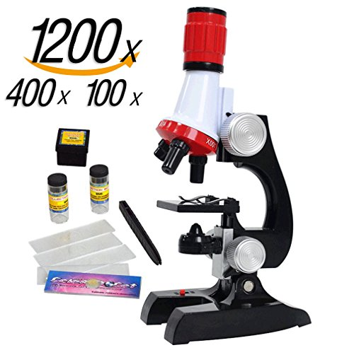 Science-kits-for-kids-microscope-Beginner-Microscope-Kit-LED-100X-400x-and-1200x-Magnification-kids-science-toysred