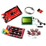 Geeetech Mega2560 (Arduino compatible),RAMPS1.4,StepStick Pololu A4988 stepper driver & Heatsink, LCD12864 Dots Graphic Matrix LCD Module,SD Breakout for 3D Printer Prusa Mendel
