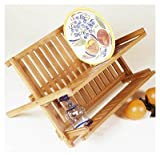 Lipper International 8813 Bamboo Folding Dish Rack