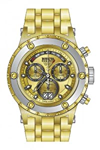 Invicta Men's 80489 Subaqua Quartz Chronograph Gold Dial Watch