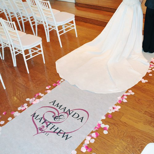 Wedding Favors Embracing Hearts Aisle Runner